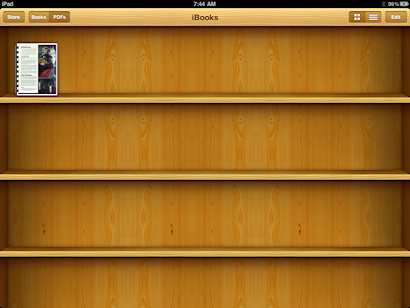 Now The Fun Part Once Sync Is Done Launch IBooks Youll See Your PDF File On Bookshelf
